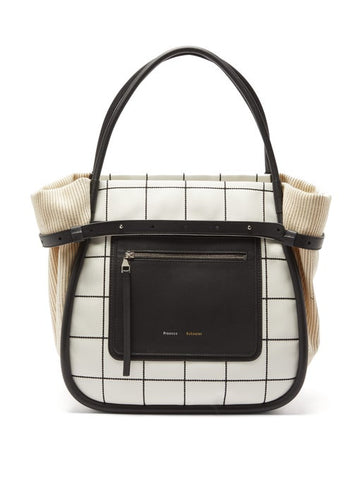 H01002 INSIDE OUT TOTE PLAID