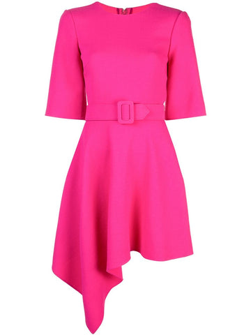 19PN256STW  DRAPE FRONT MINI BELTED DRESS