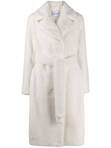 606618780 faustine white faux fur coat