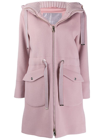 GC020DR WOOL CASHMERE HOODED DUFFLE COAT