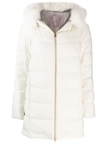 PI031DR cashmere and silk oversized parka with the fox trim