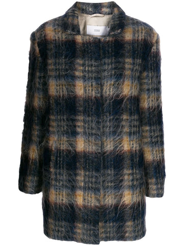 C9736164G22  BUBBLE PLAID COAT