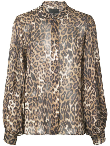 10427W137 EVELYN LEOPARD BLOUSE