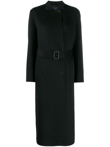 JF003419 DOUBLE BREASTED COAT WITH BELT