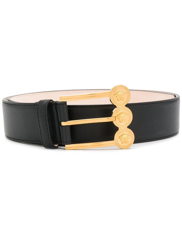 DCDH128DV3T LEATHER BELT WITH GOLD BUCKLE