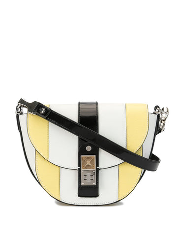 H00797 PS11 Small saddle color block bag