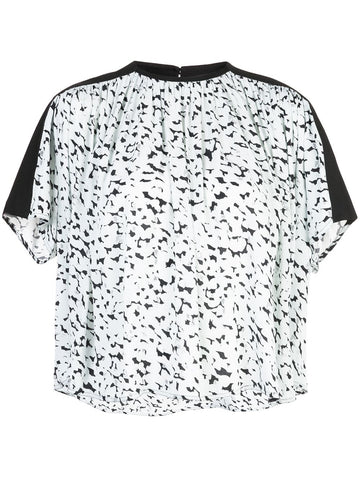 R2014012 short sleeve print top