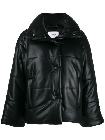 CORE06019 VEGAN LEATHER PUFFER COAT