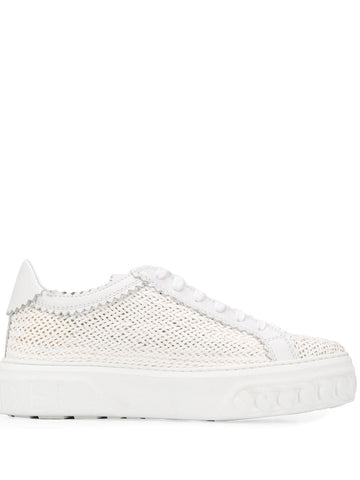 2X822P0201HANOI Woven low top trainers