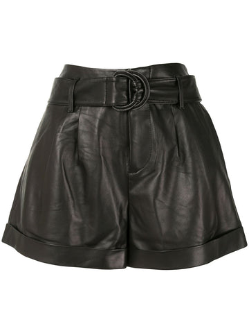 LWLT0395  paperbag leather shorts