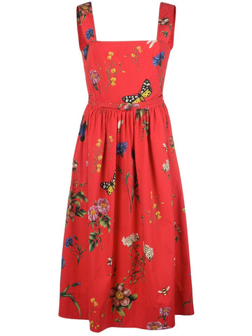 20SN2116BTP COTTON FLORAL DRESS