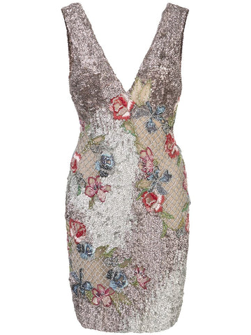 12345  beaded floral tank dress