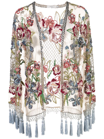 123456 beaded fringe jacket