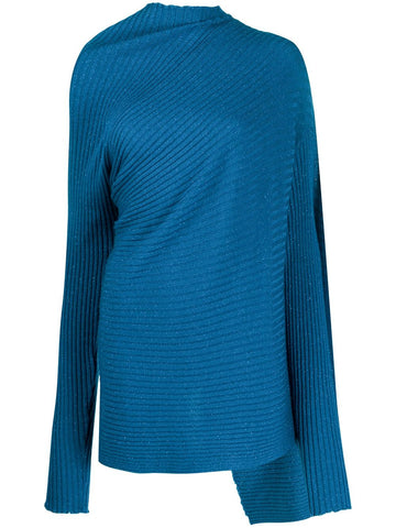 RST20KN0005LXK LUREX DRAPED SWEATER