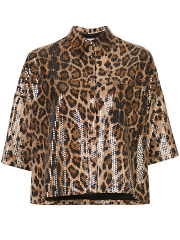 610620000000 VIVIEN LEOPARD SEQUIN TOP