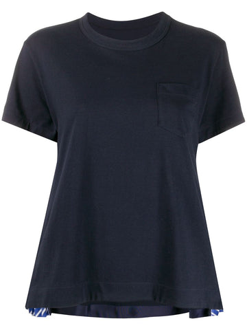 SCW025 Cotton side pleat tee shirt