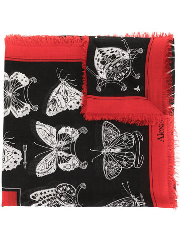 6091633A34Q1078  SHAWL INKED BUTTERFLY SCARF