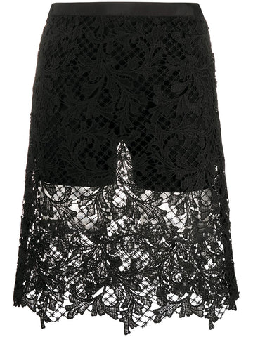 2004941 embroidered lace shorts/skirt