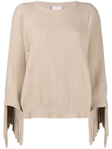 601740S2209 Fringed rib sweater