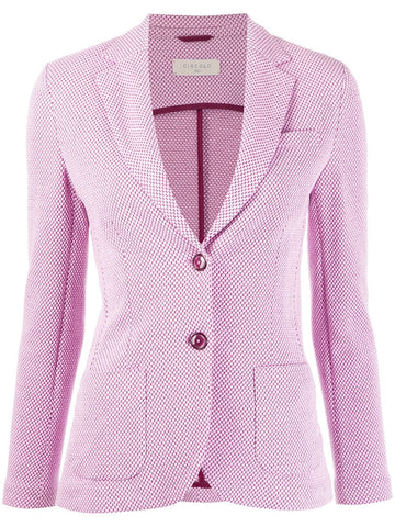 FD1505  Honeycomb stretch two button jacket