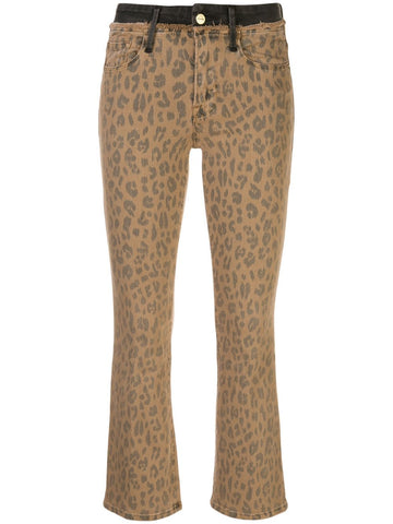 LCMBFCW403 Le crop leopard mini boot