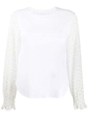 CHS20UJH26081 Lace sleeve top
