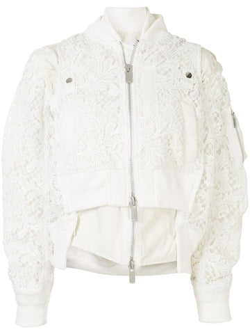 2004934 Lace bomber jacket