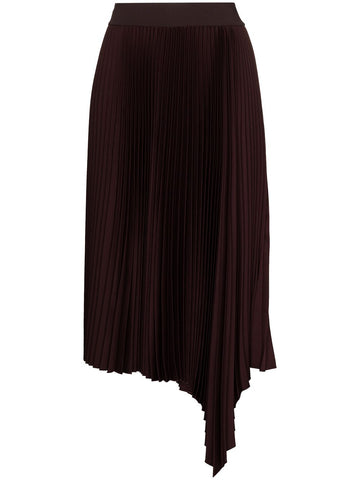 JF004941 Sabin asymmetric pleated midi skirt