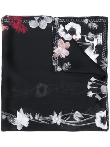 6313283011Q shawl night skeleton flower