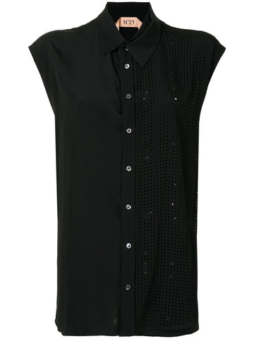 20IN2P0G1025111 Crystal-embellished sleeveless shirt