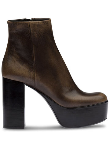 5TP233F110H Leather platform booties