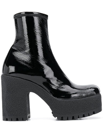 5T191DF110H Technical patent fabric ankle boot