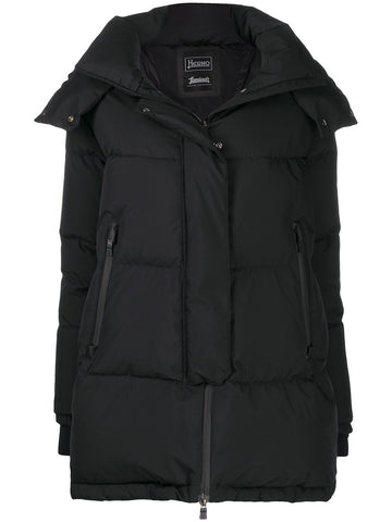 PI128DL11106 Oversized puffer jacket with removeable hood