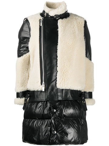 2005246 Faux sheaing x padded coat
