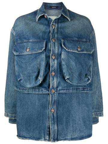 R13W8018797 Alice layered denim jacket