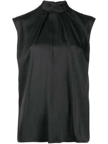 631988QBAAE Cap sleeve draped blouse