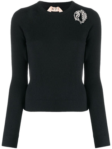 201N2M0A0017003 Crystal embellished sweater