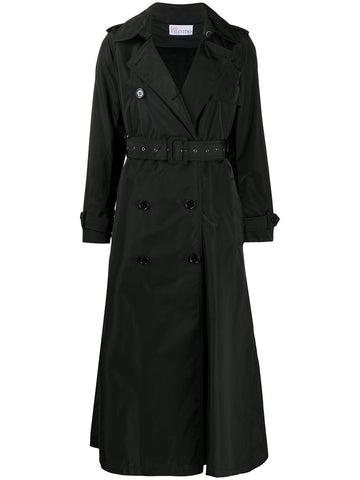 UR0CA00G5KH Double breasted pleated back trench coat