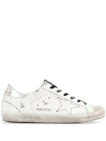 GWF00101F00012710212 Superstar distressed low-top sneaker