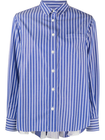 2105413 Cotton poplin stripe shirt