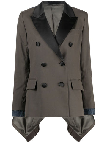 2105392 Suiting jacket with denim back