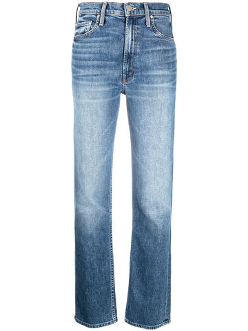 10064259 High waisted rider skimp slim faded jean