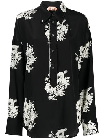 21EN2MG0915544S9W1 Floral print long sleeve shirt