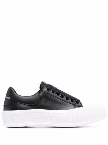 667245WIAB6 Deck leather low top sneaker