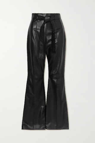 TR040AW20 Hana leather flared trouser