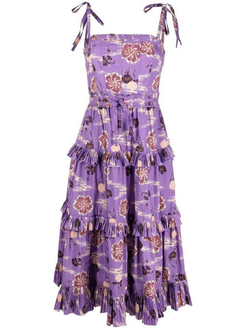 SP210107 Lune tiered floral print dress