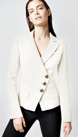 AS2004 Asymmetrical double breasted wrap blazer