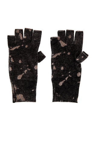 R12210 Inked splatter print fingerless gloves