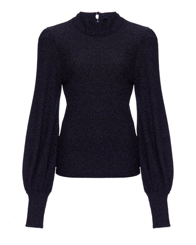 BLU11645US Long sleeve lurex turtleneck