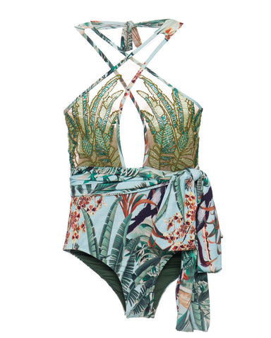 BOB10351US EDEN BEADED ONE PIECE BODYSUIT